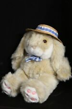 """The JC Penny Collection 20"""" Vintage Bunny Rabbit in Straw Hat"""