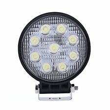 27W LED Work Light 12V 24V Round Offroad Fog Driving Lamp Tractor Truck SUV ATV