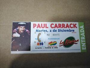PAUL CARRACK LA RIVIERA MARTES 2 DICIEMBRE - ENTRADA TICKET