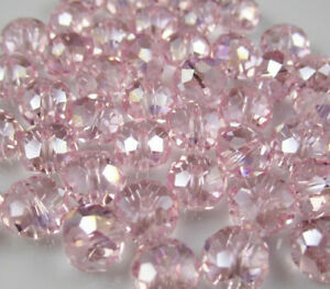 Champagne Czech crystal beads multi-faceted double cone 6*8mm strand 65pcs