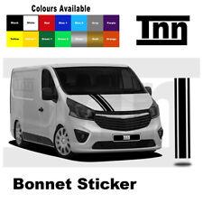 Bonnet Stickers Decals Stripes For Vauxhall Vivaro Trafic Primastar SWB LWB