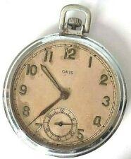 VINTAGE ORIS POCKET WATCH 7 Jewels SWISS CAL 421 ... REPAIR/ PARTS