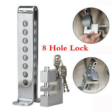 Truck Car Clutch Brake Stainless Steel Anti-Theft Security Device 8 Hole Lock