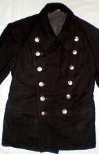 Vintage Russian Military Naval Pea Coat Navy Uniform Seaman Overcoat Wool Jacket