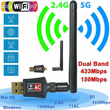 600MBPS Wireless USB Network Adapter WiFi Dongle LAN Card PC Laptop With Antenna