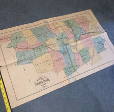 Rare 1885 Driving Road Map Of Franklin County Massachusetts!