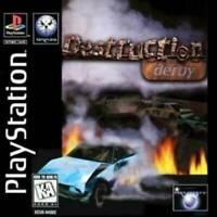 Destruction Derby Playstation 1 Game PS1 Used Complete