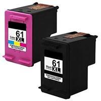 2PK 61 XL Black & Color Ink Cartridge Compatible For HP Envy 4500 4505 5530 553