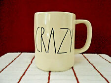 "Rae Dunn By Magenta Off White ""CRAZY"" 16oz Coffee Mug New"