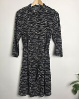 Papaya Woman Size 14 Abstract Stripe Print Belted Shirt Dress