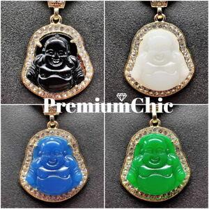 ICED Buddha Pendant + 5MM Rope Chain Necklace Choker Mens Fashion Jewelry