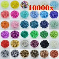 Wholesale 10000 Pcs 2mm Czech Glass Seed Round Spacer beads Jewelry Making