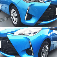 2pcs SUS304 Stainless Steel Front Fog Lamp Trim For Toyota Yaris 5DR 2017 2018