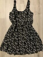 Mimi Chica Black & White Geometric Fully Lined Sundress Adorable XS