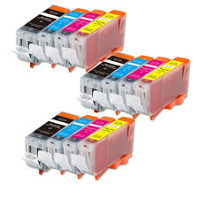 12 PK Ink Cartridge Set w/ chip use for Canon PGI-5 CLI-8 MX700 MP510