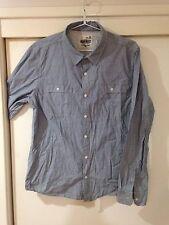 Jeanswest Men's L/sleeve Button Front Shirt Slim Fit Size XL Good Condition