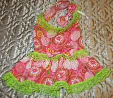 M female Dog dress pink [Flowers] cotton handmade