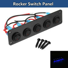 8 Gang Toggle Rocker Switch Panel wasserdicht mit gr/ünen LED-Leistungsschalter ON-Off Z/ündschalter Panel 12V 24V