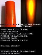 12 X 5 Orange Reflective Vinyl Adhesive Cutter Sign Hight Reflectivity