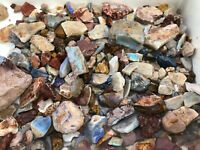 Half kilo (500gram) mixed parcel of natural rough Australian Opal ready to cut