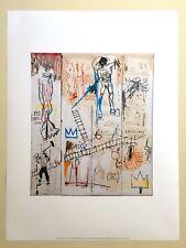 """JEAN MICHEL BASQUIAT ESTATE ORIG FINE ART PRINT """"DA VINCI'S GREATEST HITS"""" 1982"""