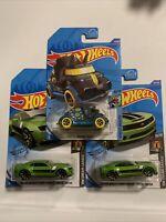 Hot Wheels 2020 Tresure Hunts Lot Of 3 2013 Chevy Camaro And Tricera-Truck