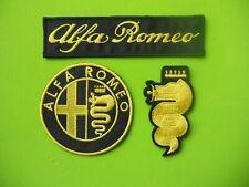 PATCH ALFA ROMEO GIALLO PZ 3 RICAMATE TERMOADESIVE -REPLICA