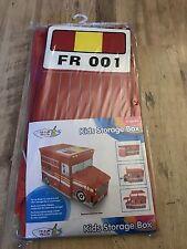 FIRE ENGINE VEHICLE STORAGE BOX TOY BOX BNWT