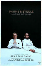 BANKS & STEELZ Anything But Words 2016 Ltd Ed RARE Poster! RZA Interpol Wu-Tang