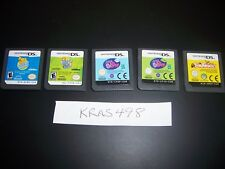 5 Nintendo DS DSi Lite Games - All Working - GREAT DEAL/GIFT-Titles Shown-#M9