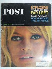 Saturday Evening Post Magazine  May 8,1965  Brigitte Bardot  GREAT VINTAGE ADS