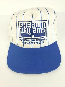 VTG Sherwin Williams Striped Snapback Hat Cap Industrial Maintenance Coatings