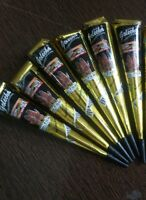 6 Golecha Black Henna Cones Temporary Tattoo kit Free Mehandi Design Book