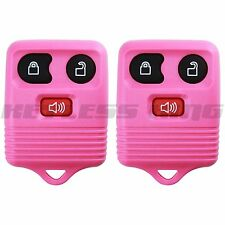 2 New Pink Replacement Keyless Entry Remote Car Truck Key Fob Clicker Control