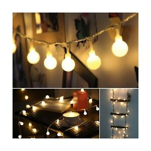 ALOVECO LED String Lights, 18ft 50 LED Waterproof Ball Lights with Remote, 8 ...