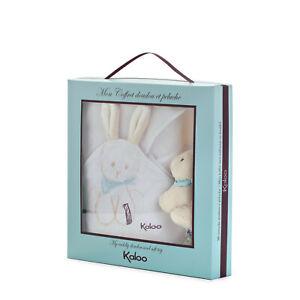 New Kaloo Praline Rabbit Doudou Blanket Lovey and Mini Plush Set