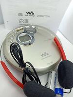 Sony D-FJ401 CD Compact Disc Walkman FM AM Radio Tuner Portable Discman Silver