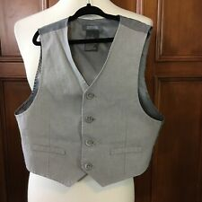 Kenneth Cole Boys Size 6 3 Piece Vest, Collared Shirt And Pants