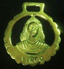 Vintage VIRGO MAIDEN Horse Harness Brass AUG 23-SEPT 22 ZODIAC WOW YOUR WALLS!