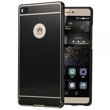 PARACHOQUES DE ALUMINIO 2 pizas con cubierta negro para Huawei Ascend P8 Lite