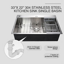 """33"""" x 22"""" x 9"""" Top Mount Kitchen Sink Soundproof Material Protective Coating"""
