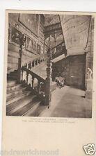 Temple Newsam Leeds Oak Staircase Vintage Postcard 058b
