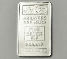 JOHNSON MATTHEY 5 GRAM LOVE OIL DEREK .999 SILVER BAR Ingot SN# 995