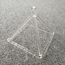 """Optically Clear Quartz Crystal Singing Pyramid 6"""" Crystal Singing Bowl"""