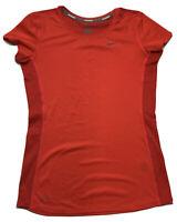 Nike Running Dri Fit Womens Breathe Mesh Pink Shirt Top Small