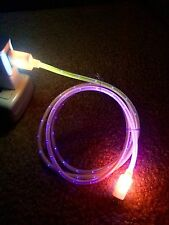Samsung Galaxy S2 S3 S4 LG HTC Multi Color LED Micro USB Data Sync Charger Cable
