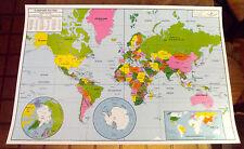 Objet de Métier Affiche Scolaire Rossignol Planisphère Mappemonde 102 x 70 cm