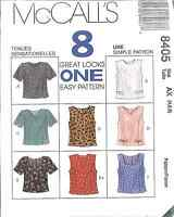 UNCUT Vintage McCalls SEWING Pattern Misses Semi Fitted Tops Shirt OOP 8405 SEW