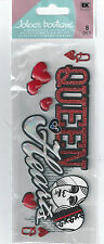 Jolee's QUEEN OF HEARTS Las Vegas 3d Scrapbook Stickers