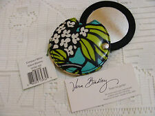 Vera Bradley ISLAND BLOOMS Compact MIRROR Case MakeUp COSMETIC for PURSE Bag NWT